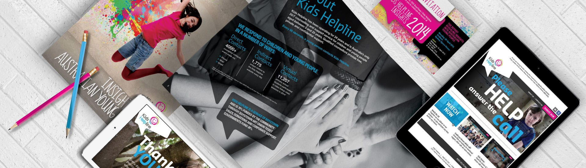 Kids Helpline Graphic Design